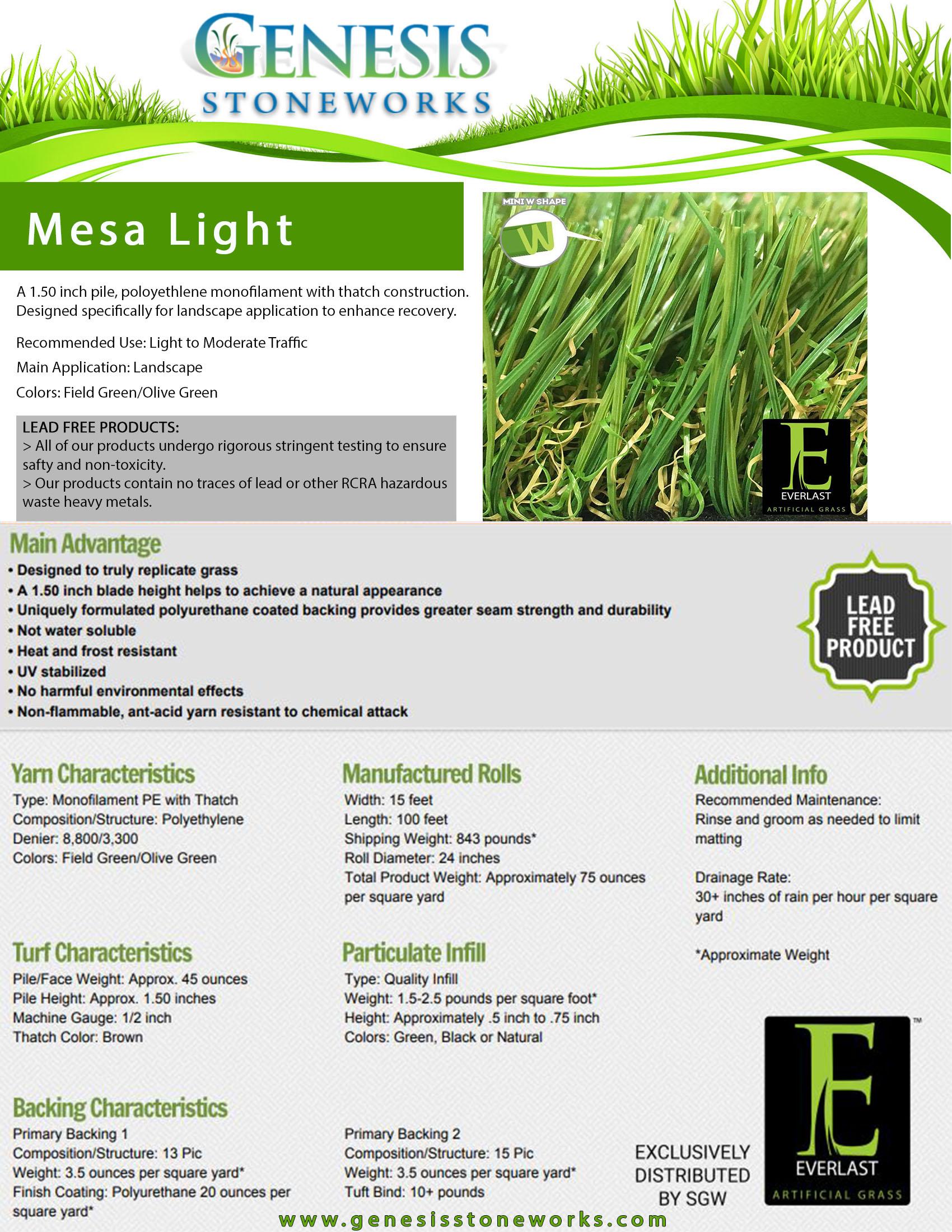 MesaLight_SpecSheets