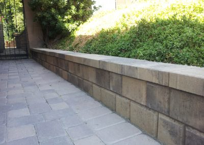 Genesis Stoneworks wall Olsen Paving Infinty Wall