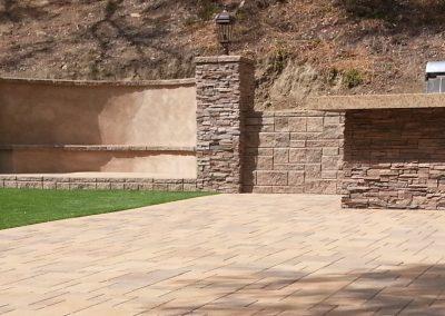 Genesis Stoneworks retaining wall Orco Allen Block AB Ashlar Blend