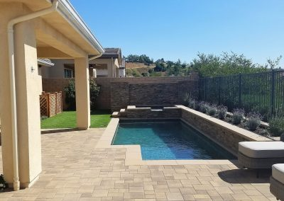 Genesis Stoneworks Angelus Block Courtyard Stone Sand Stone Mocha paver pool deck