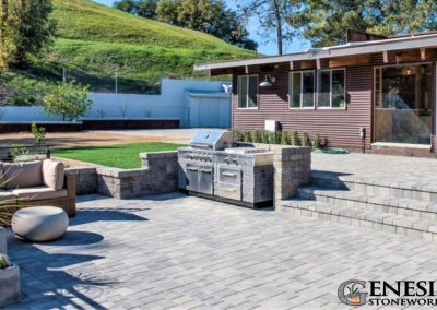 Balkins Paver Patio Steps Walls Turf