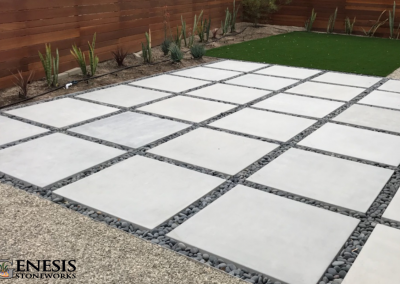 Rice Paver Patio Mexican Pebble Artificial Turf